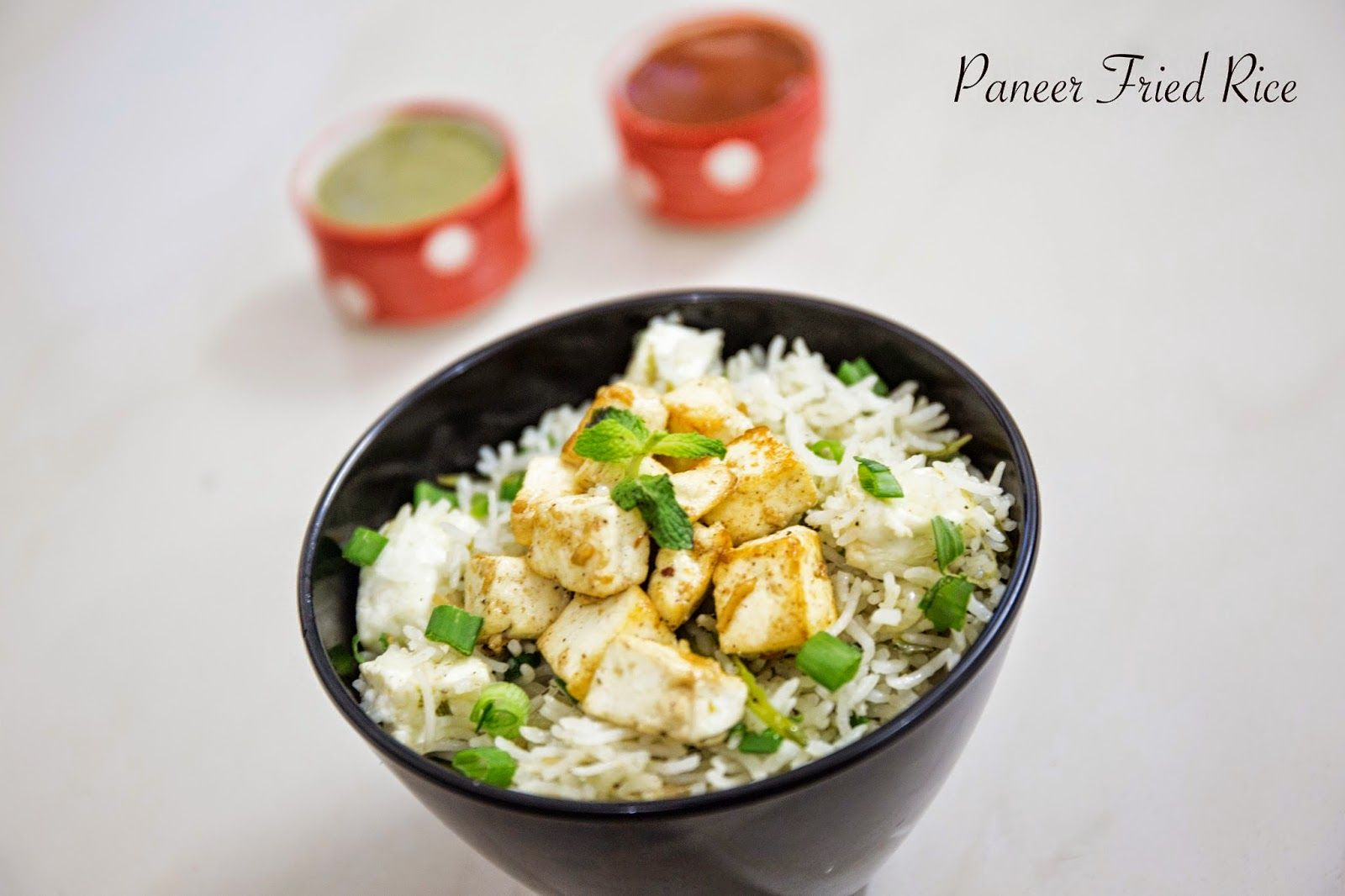 vegfood: Paneer Fried Rice / Cottage Cheese Fried Rice