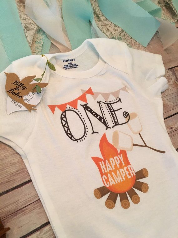One Happy Camper OnesieR First Birthday Outfit By BittyandBoho