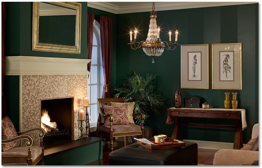 awesome green paint color for accent wall living room | Behr- vine leaf N400-7 Ivory lace PPU7-15 in 2019 | Living ...
