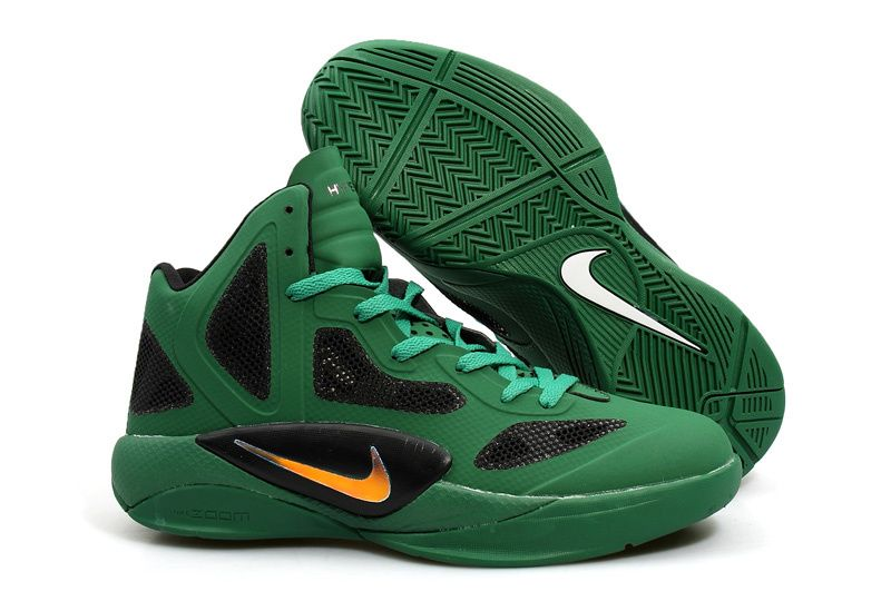 Cheap 2011 Hyperfuses High Tops Green And Black 454136 110
