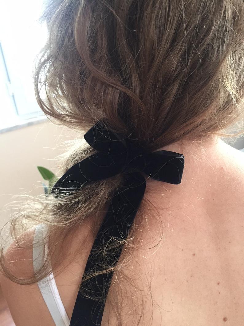 Velour Hair Ribbon Romantic Hair Accessories Retro Hair Etsy In 2020 Romantic Hair Accessories Retro Hairstyles Hair Accessories For Women