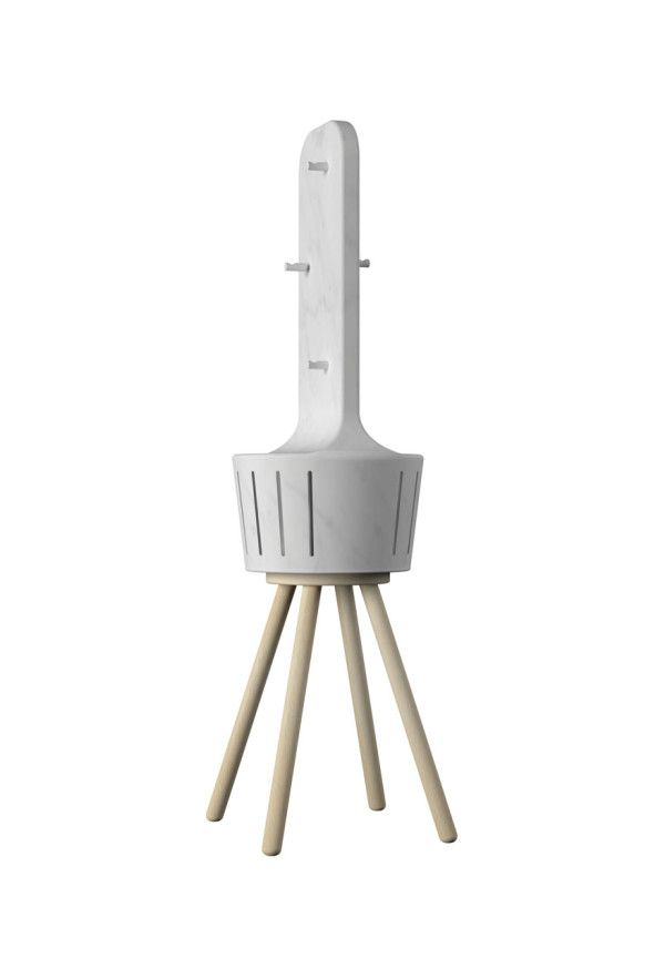 Heatty, a marble fan heater.