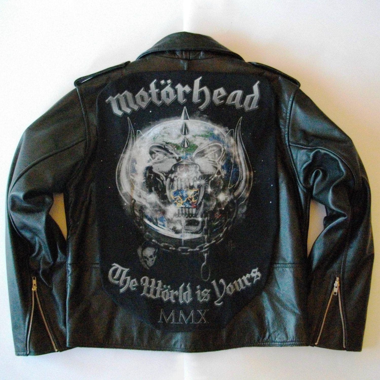 Metalworks Motorhead The World Is Yours Leather Jacket By Newrockbristol On Etsy Punk Jackets Battle Jacket Custom Clothes [ 1500 x 1500 Pixel ]