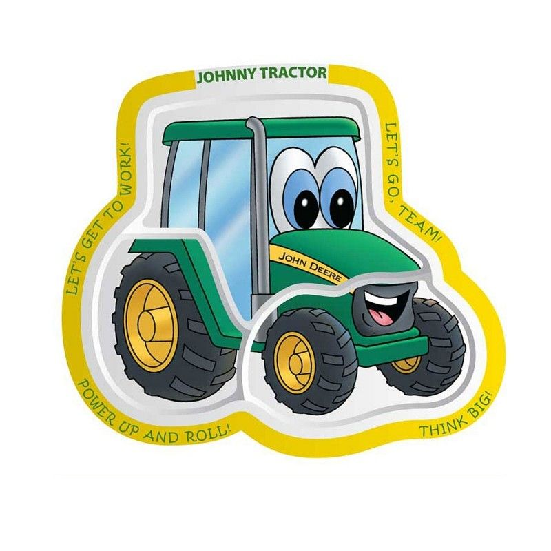 Johnny Tractor Cartoon : John deere johnny tractor plate home and gifts