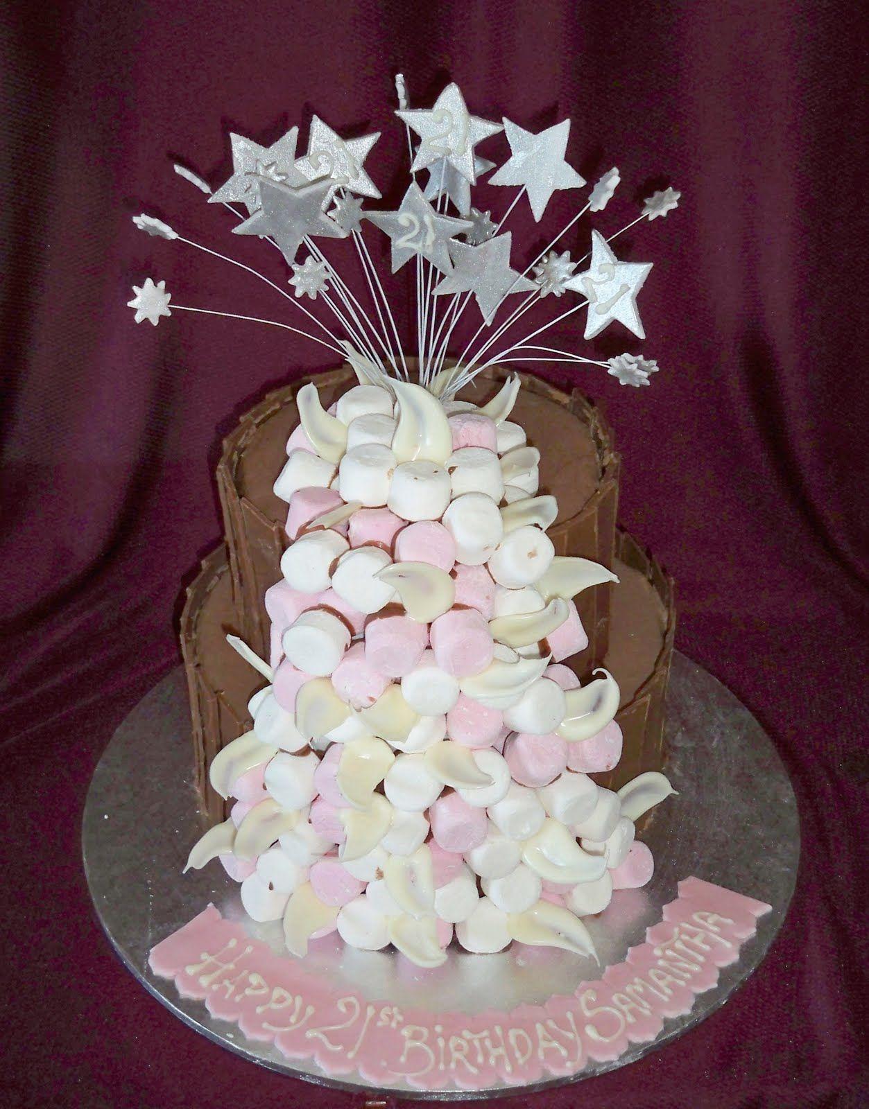21st Birthday cake Creative Marshmallows Pinterest 21st