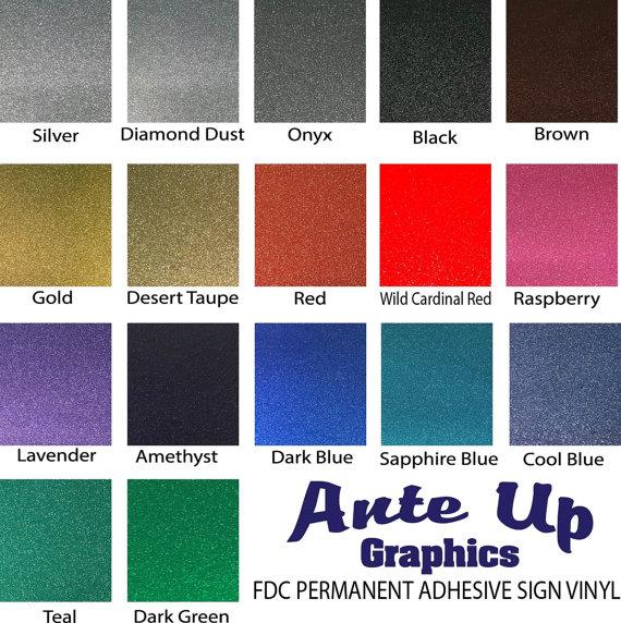 Glitter Permanent Adhesive Sign Vinyl 12 Quot X 12 Quot Sheet