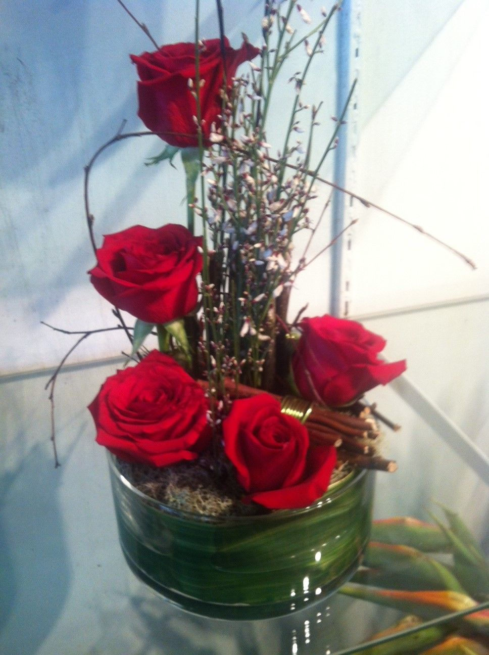 Desk Top Rose Arrangement - perfect and different to say you love someone special!