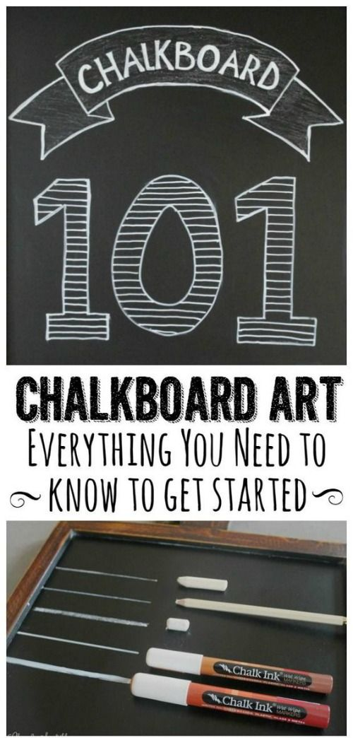 Chalkboard Art and Hand Lettering Tutorials