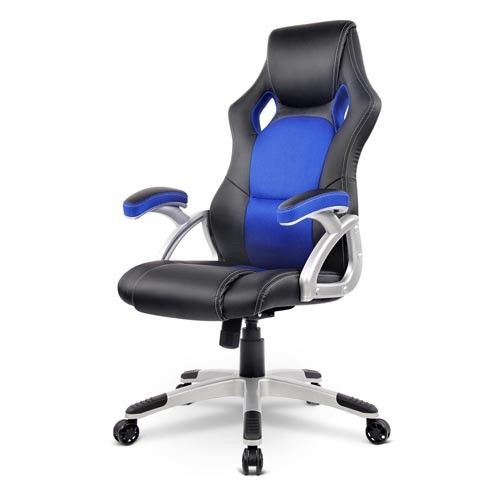 pu leather executive office computer gaming chair blue black
