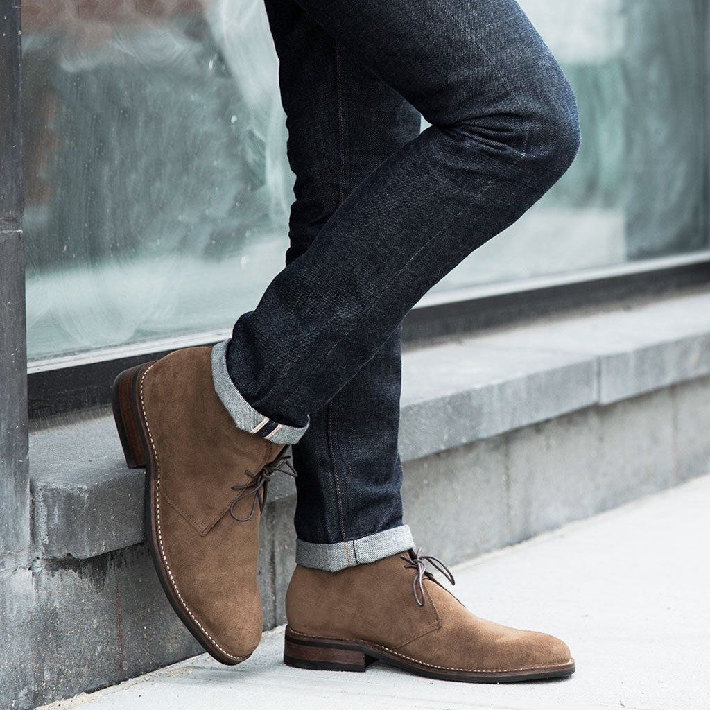 dceab482a84 Scout | Cognac Suede | Casual Attire | Mens suede chukka boots ...