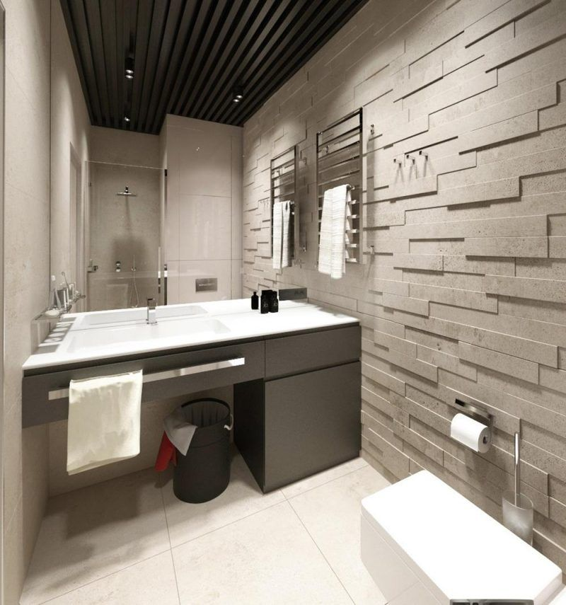 carrelage mural salle de bain panneaux 3d et mosa ques mobiliers pinterest salle salle. Black Bedroom Furniture Sets. Home Design Ideas