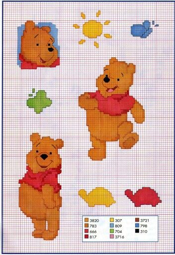 Winnie   Winnie Pooh   Pinterest   Kreuzstich Baby, Kreuzstich und ...