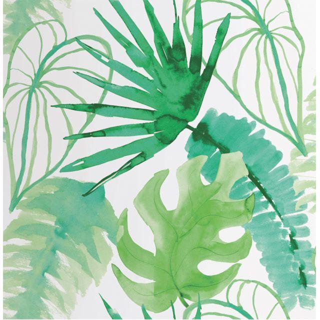 Papier Peint Sur Intisse Elle Jungle Vert Castorama Decoration