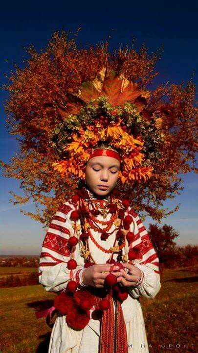 Ukraine Ethnique Ukraine Traditionelle Kleidung Folklore Frau Mit Hut