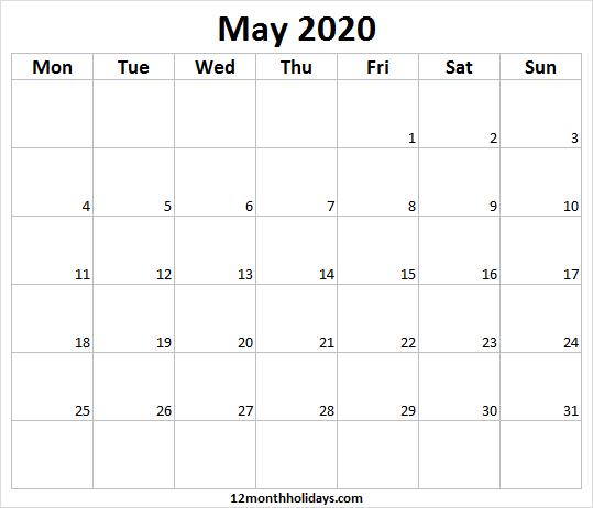 Pin On Printable Calendar 2020
