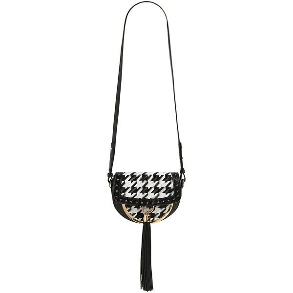 e368e3f1937d Balmain Women Domain 18 Houndstooth Leather Bag (31.033.150 IDR) ❤ liked on