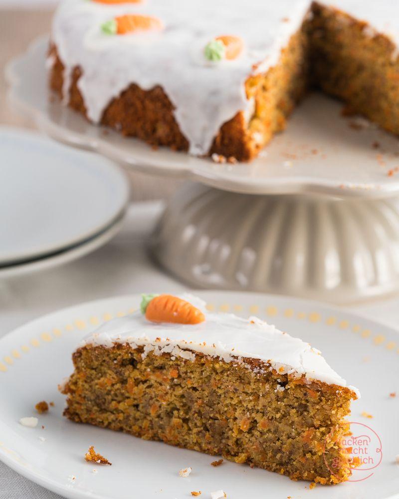 Wunderbar Saftiger Karottenkuchen Rezept Backenmachtglucklich