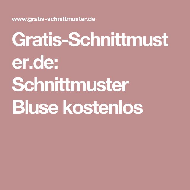 Gratis-Schnittmuster.de: Schnittmuster Bluse kostenlos ...