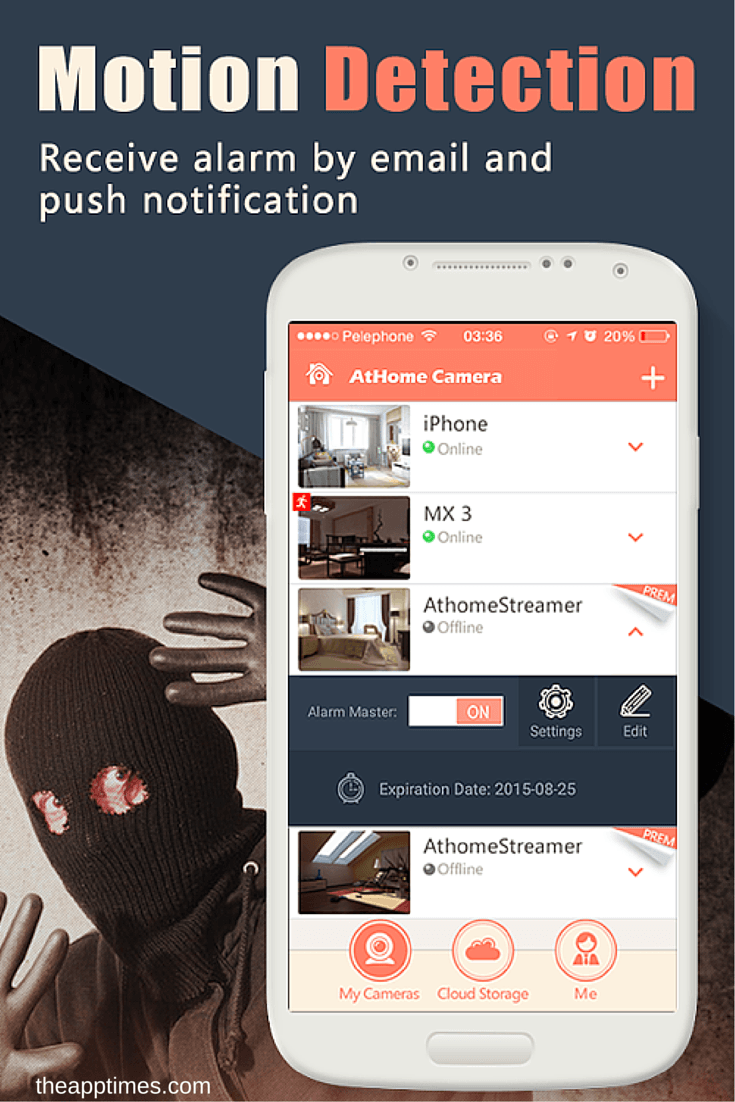 AtHome Camera AppEnabled Security that Goes With You
