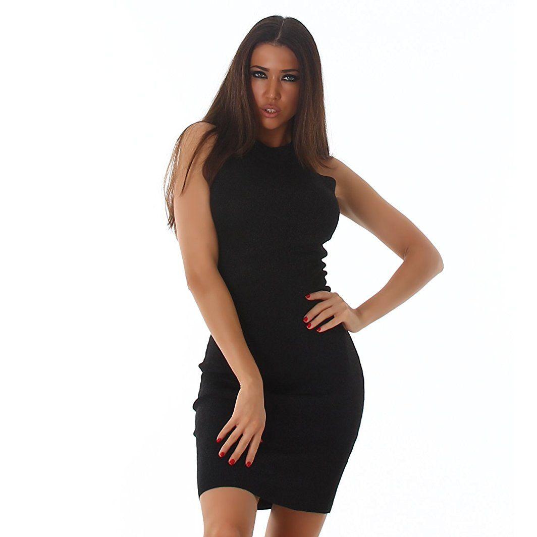 Damen Abendkleid Cocktailkleid mit Glitzer Kleid elegant festlich ...