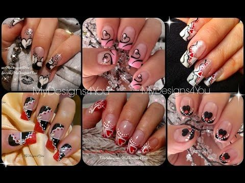 valentines day nail art compilation compilacin de diseos de valentines day nail art compilation compilacin de diseos de uas san valentn liudmila sciox Image collections