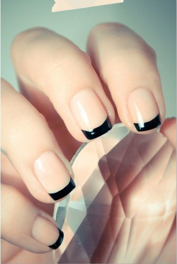 french manicure, fall french manicure, autumn french manicure ...
