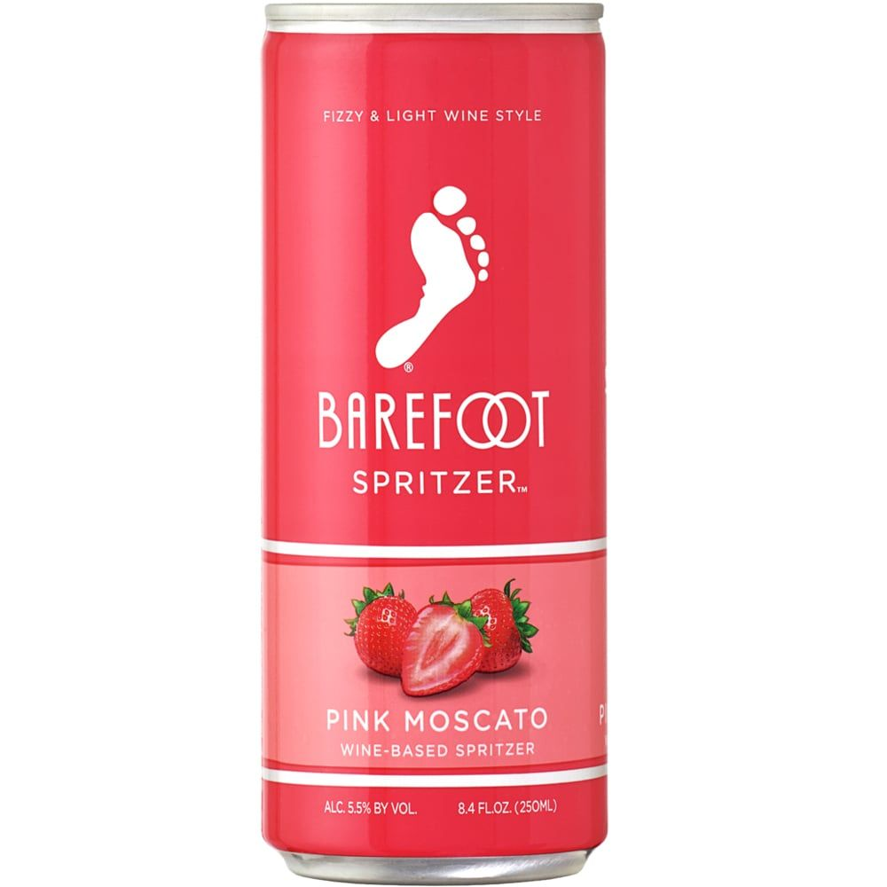 Barefoot Just Released New Canned Wine Spritzers For Summer Including A Pink Moscato Pink Moscato Wine Spritzer Spritzer