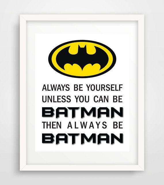 Batman Print Poster Art Prints Logo Superhero Nursery By Echoshop