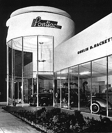 Streamline Moderne Pontiac Auto Dealership Circa Late 30s To
