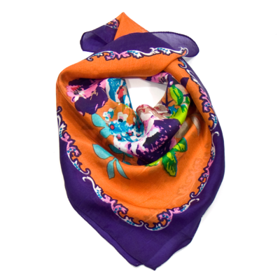 carré de soie foulard mini violet lola   mesecharpes.com   Pinterest ... 53c7d3948e5