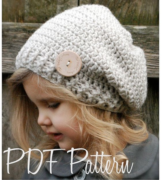 Crochet PATTERN-The Nala Slouchy (Toddler, Child, Adult sizes ...