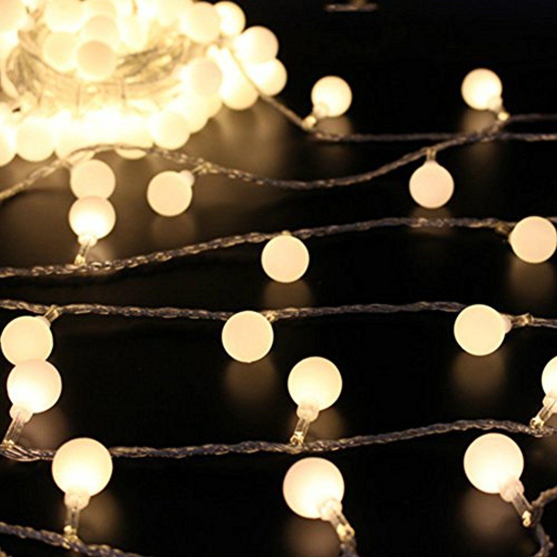 50 leds 16 feet globe led string lights battery powered indoor 50 leds 16 feet globe led string lights battery powered indoor outdoor decorative fairy lights curtain aloadofball Images