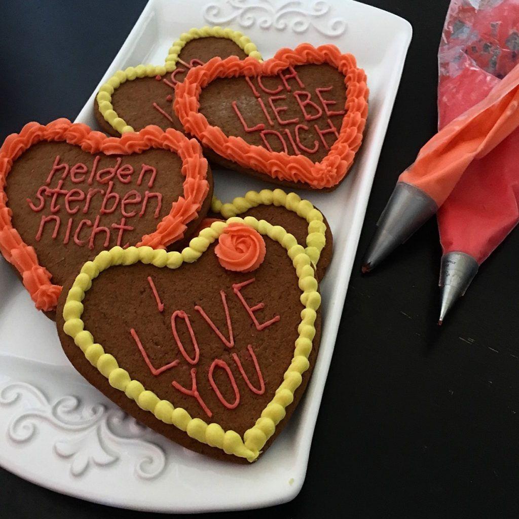 Lebkuchenherzen For Oktoberfest German Gingerbread Hearts