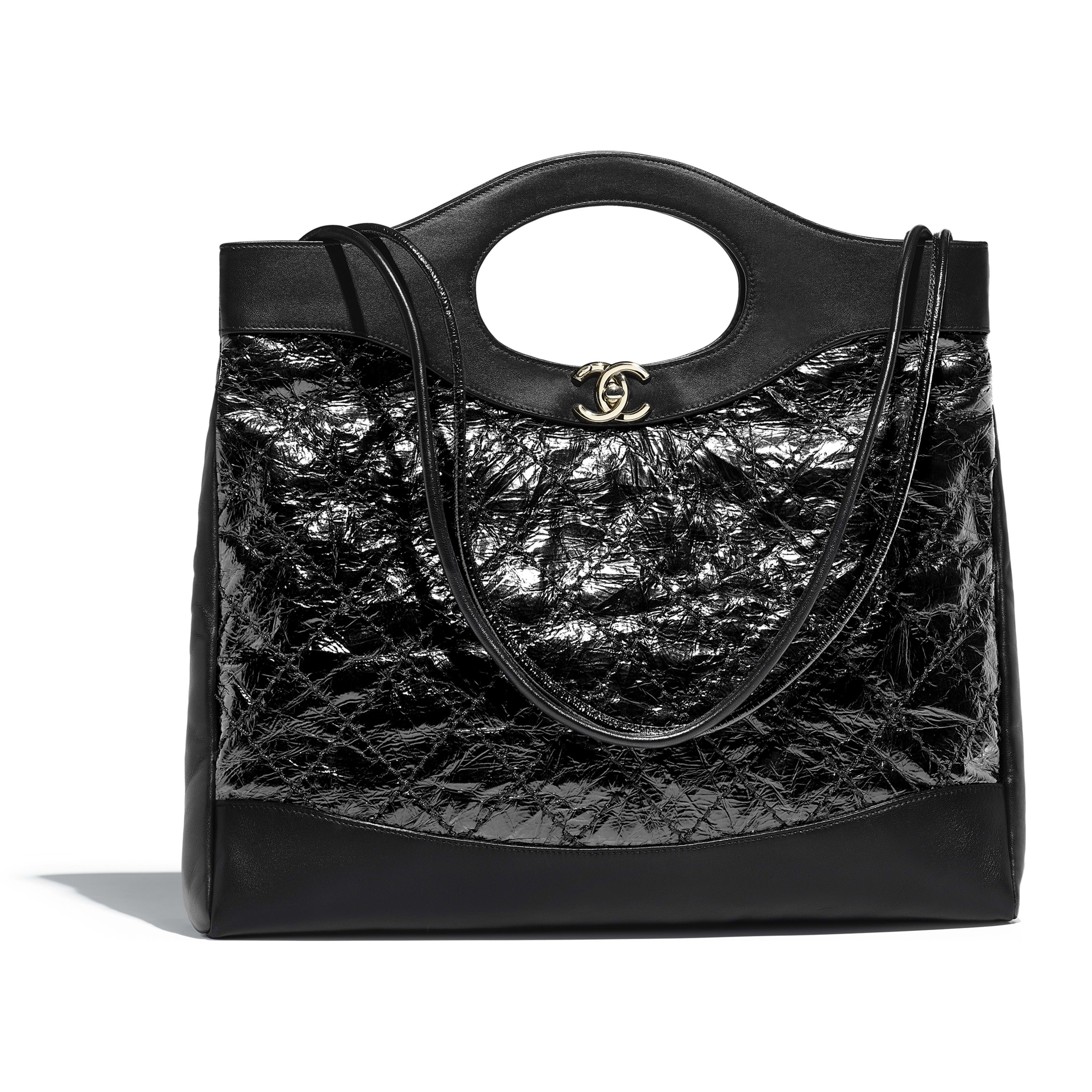 57ccb45e908f CHANEL 31 Large Shopping Bag - Black - Calfskin
