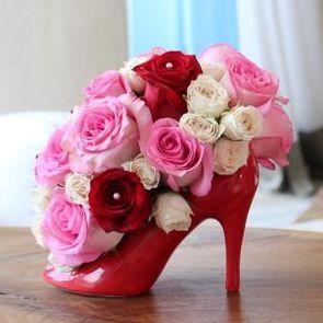 Ceramic High Heel Centerpiece Vase | Vases | Ceramic shoes ...