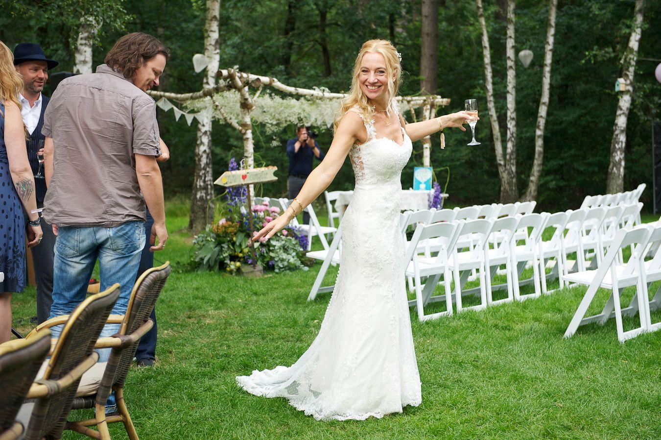 Mijn Trouwjurk Die Ik Droeg Tijdens Onze Festival Bruiloft