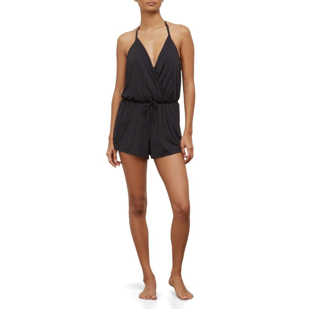 1aa8626c821 Kenneth Cole REACTION Womens VNeck Romper Dress Swimsuit Black Small    Check out this great product. (This is an affiliate link and I receive a  commission ...
