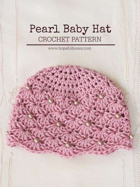 Precious Vintage Style Pearl Baby Hat - Free #Crochet Pattern ...
