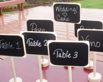 25 Wedding Chalkboards Table Stands & One Chalk Marker Candy Bar Food Buffet Chalk Label Signs Weddings Chalkboard Rustic Place Settings