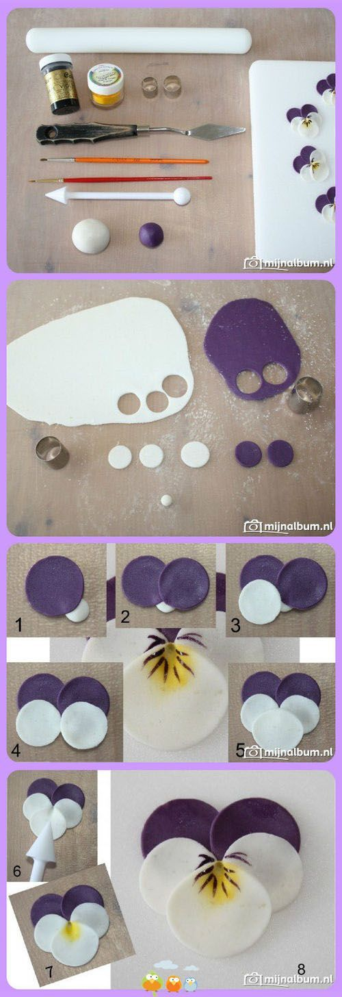 Pansy tutorial - For all your cake decorating supplies, please visit craftcompany.co.uk