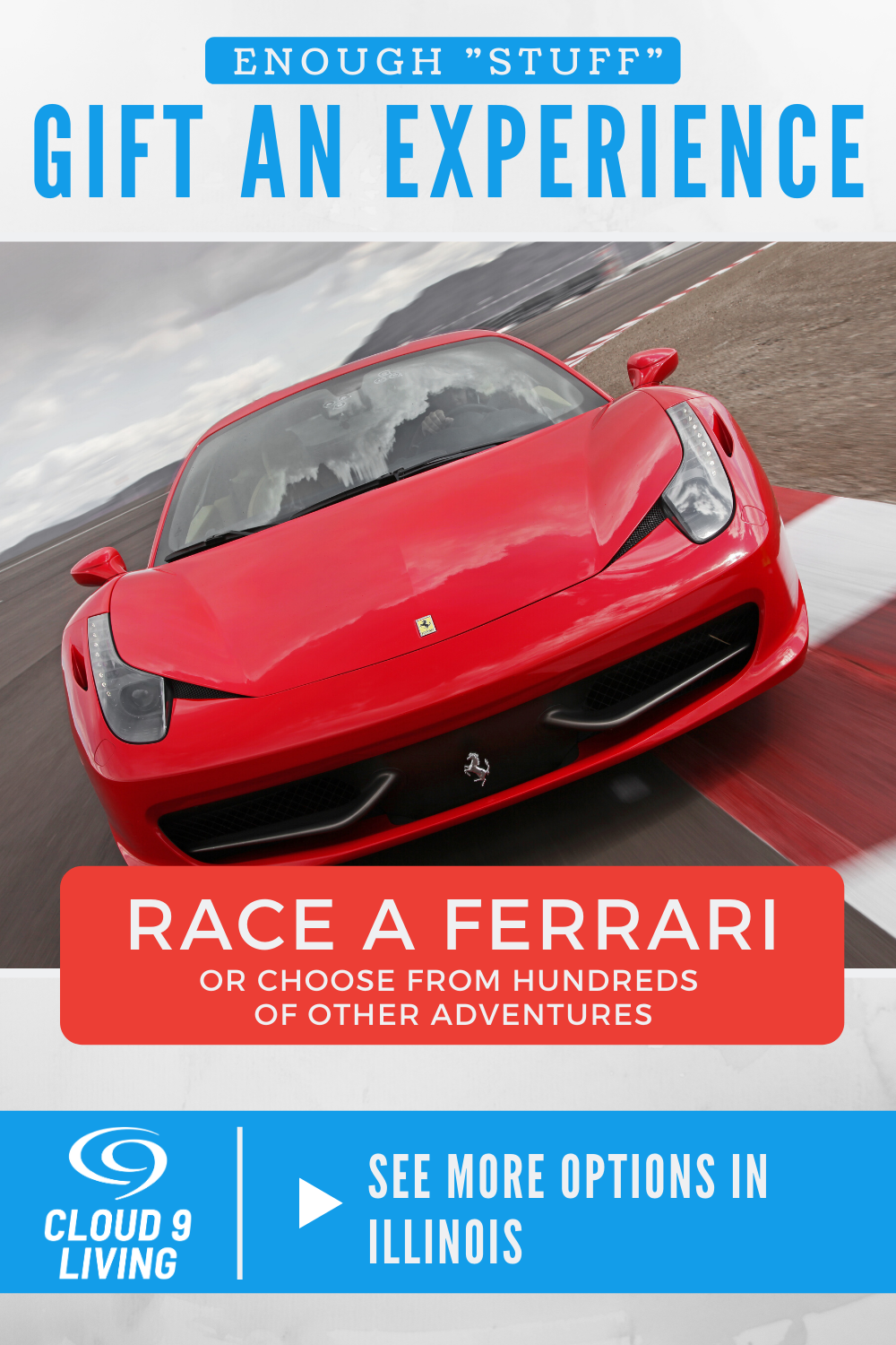 Gifts For Him Driving Experience Ferrari Cloud 9 Living