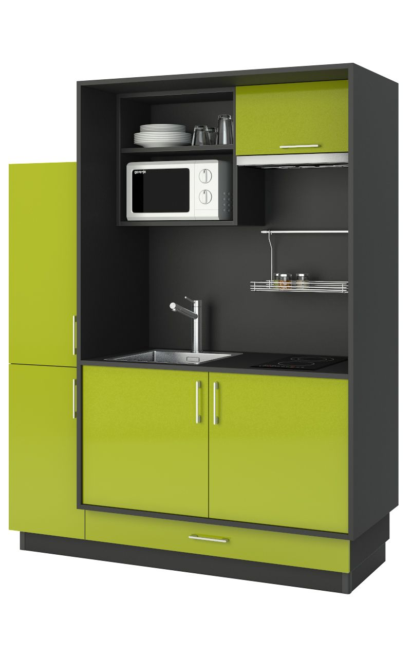 une mini cuisine quip e qui a tout d 39 une grande vier plaque de cuisson four micro ondes. Black Bedroom Furniture Sets. Home Design Ideas