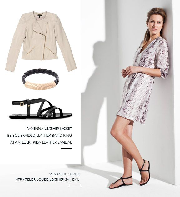 sandals, dress, baukjen, jacket
