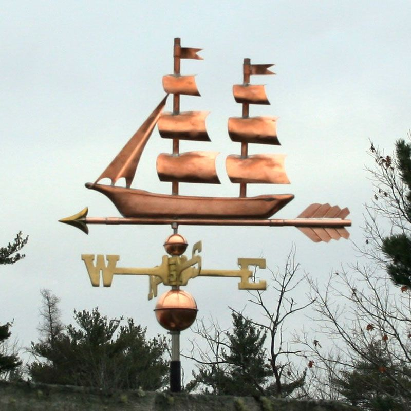 Copper Ship Weathervane : Weathervane Factory