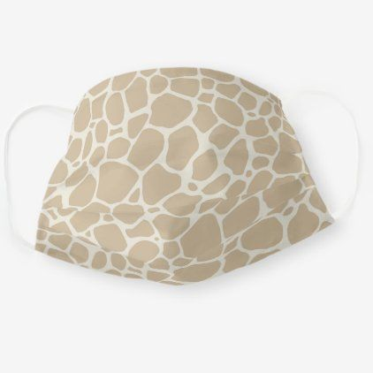 Neutral Tan & Ivory Giraffe Pattern Animal Print Cloth Face Mask | Zazzle.com