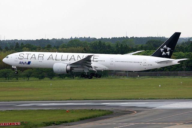 All Nippon Airways Boeing 777 300er Ja731a Star Alliance Livery Tokyo Narita Scandinavian Airlines System Airbus Boeing 777