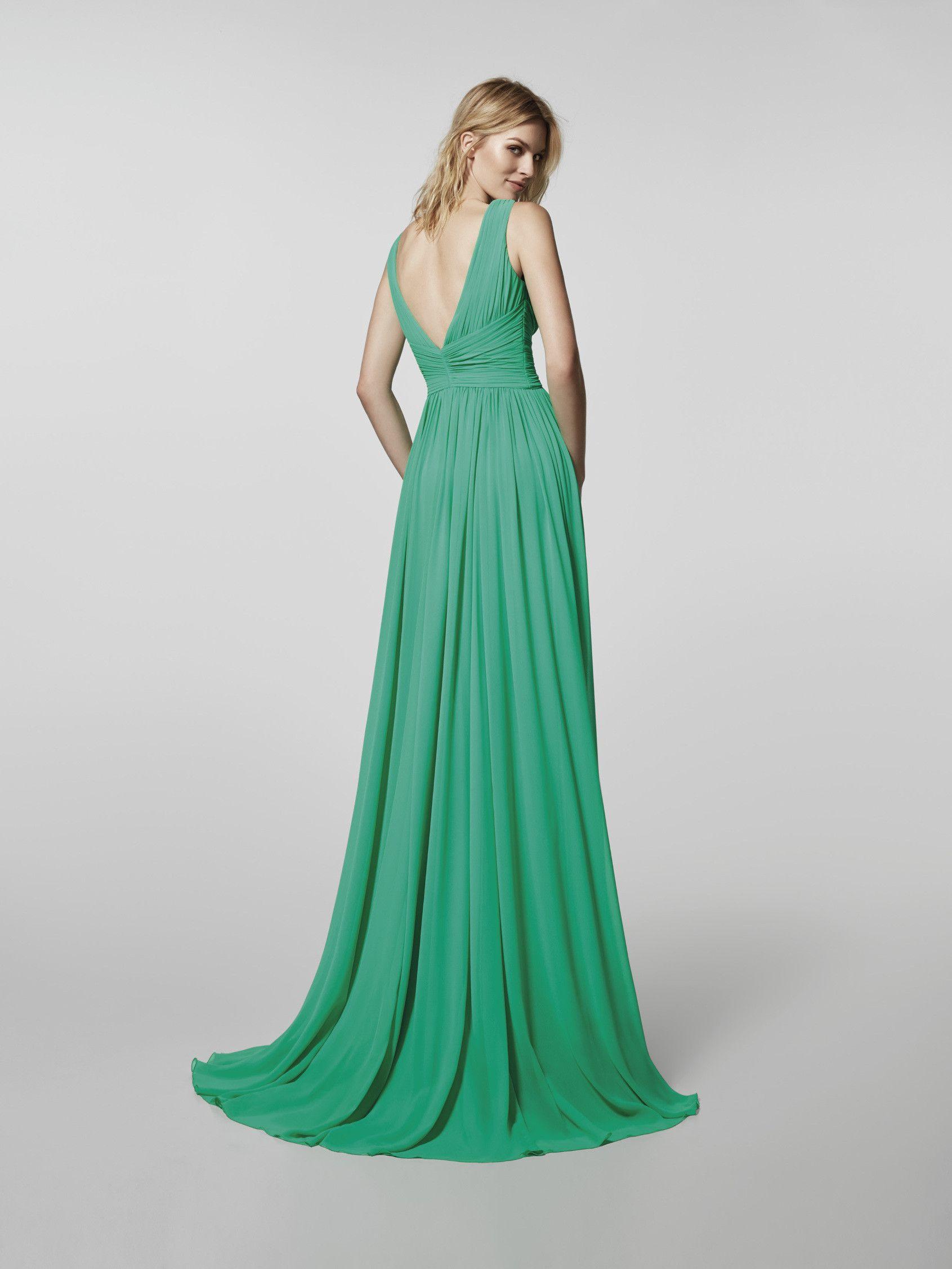 Imagen del vestido de fiesta verde (62039). Vestido GRISELDA largo ...