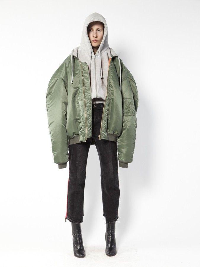 11933cf9d11a Vetements oversized bomber jacket - $2,625.00   Coats & Jackets in ...
