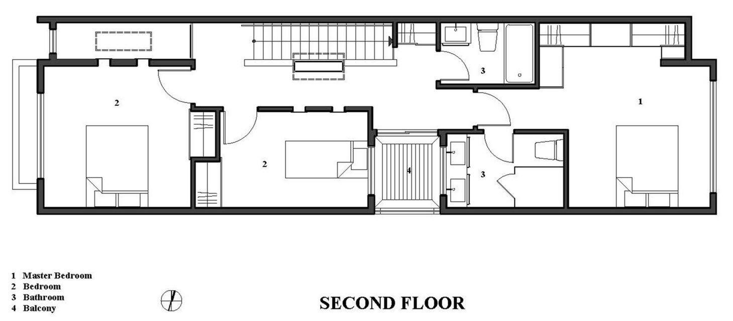 Planos de casa de dos pisos con fachadas e interiores   Construye Hogar