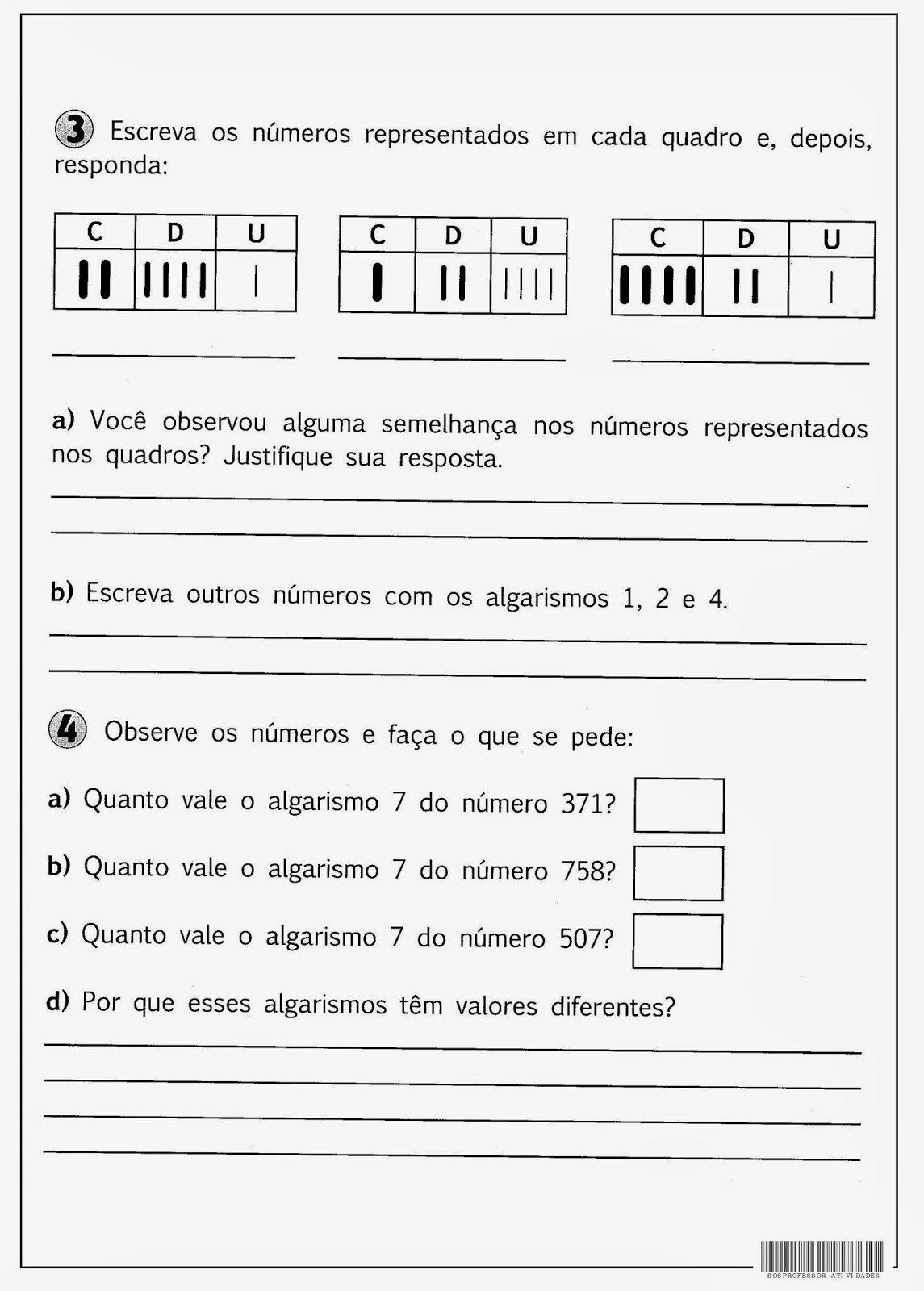 Numeros Maiores Que 100 Valor Absoluto Exercicios De Matematica